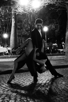 dancing along the street