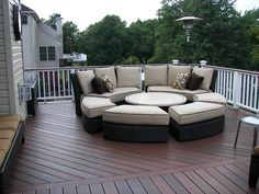 Horizon composite decking in Rosewood. Deck by Heritage Deck Design and Construction in Old Bridge NJ