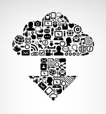 Download Cloud with Internet Technology and Communications royalty-free vector arts vector art illustration