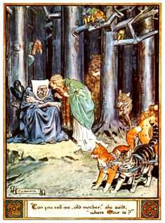 Freyja seeks her husband Óðr ~ Artwork © Charles E. Brock