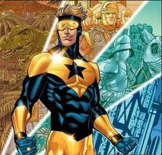 BOOSTER GOLD: Michael Jon Carter was born poor in 25th century Gotham City. He and twin sister Michelle never knew their father because he left after gambling away all their money. Michael was a gifted athlete, attending Gotham University on a football scholarship. At Gotham U., Michael was a star quarterback until his father reentered his life and convinced him to deliberately lose games for gambling purposes. He was exposed, disgraced and expelled. Later he was able to secure a job as a…