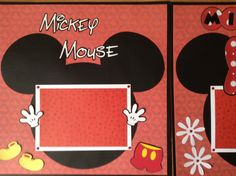 Disney Mickey Mouse Minnie Mouse Premade Layout Scrapbook Pages | eBay