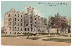 Erie County Jail and Municipal Building, antique Buffalo, NY postcard