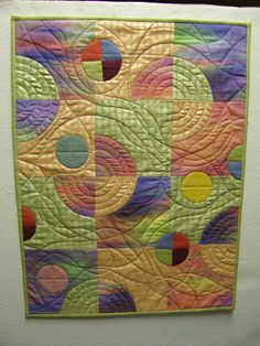 Contemporary Circle Wall Hanging by MoonDanceTextiles on Etsy, $79.00
