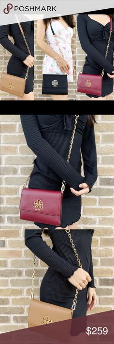 3b677f1bd7bd Tory Burch britten crossbody Style   48292 0418 Leather Front flap with  double magnetic snap closure