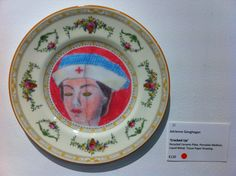 Plate up cycled china collage by Adrienne Geoghegan Upcycle, Mixed Media, Collage, China, Plates, Licence Plates, Collages, Dishes, Upcycling