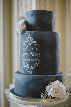 True Love | These Chalkboard Wedding Cakes Are About To Blow Your Mind | Weddingbells
