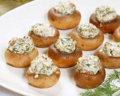 Champignons farcis au fromage blanc 0% et fines herbes…