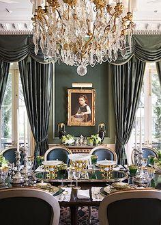 English Country Cottage Dining Room, Stunning interior design ideas and home decor ~ Alexa Hampton