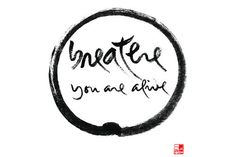originalgiantcontent:  Calligraphy by Thich Nhat Hanh.  I own a...