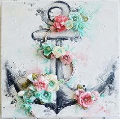 Watercolor Anchor by Stacey Young for Prima #watercolorconfections #art #colorbloomsprays