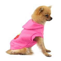 Hot!Cute Pet Dog Cat Strawberry Clothes Warm Winter Puppy Coat Hoodie Apparel tactical vest coats  products for animals