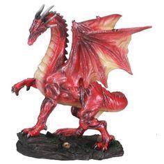 Small Red Midnight Dragon Figurine