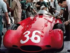 Jean Behra driving a Maserati at the 1955 Grand Prix of Italy at Monza. Maserati also raced the that year. Maserati, Bugatti, Le Mans, Grand Prix, Classic Race Cars, Pretty Cars, Nice Cars, Old Race Cars, Vintage Race Car