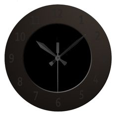 Minimalistic All Black Wall Clock
