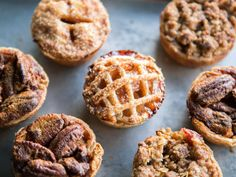 At first glance they seem to be the perfect holiday food—small enough to hoard without remorse, great for groups if you choose to share, and so adorable! We've got the tricks and tips to making these little cuties worth the effort. Mini Pie Recipes, Muffin Tin Recipes, Apple Recipes, Holiday Recipes, Snack Recipes, Dessert Recipes, Snacks, Muffin Tins, Mini Desserts