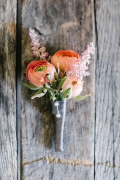 Featured Photographer: Melanie Duerkopp Photography; wedding boutonniere idea