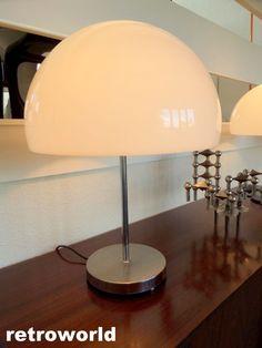 60s 70s DURLSTON Mid Century Retro Vintage Table Lamp Space Age Guzzini Era Part 60