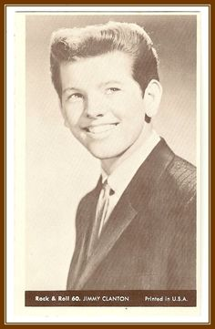 Jimmy Clanton   Collectible Rock and Roll  Arcade or Exhibit Card    Number 60