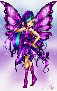 Art Trade: Bellatrix Butterflix by DarleenEnchanted