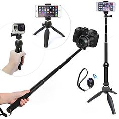 selfie stick urpower extendable self portraits pole handheld selfie stick with plastic rearview. Black Bedroom Furniture Sets. Home Design Ideas