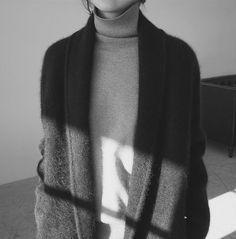 Turtleneck with a dark sweater