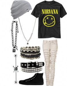 Summer grunge style - All About Indie Outfits, Grunge Style Outfits, Cute Emo Outfits, Band Outfits, Scene Outfits, Fashion Outfits, Fashion Boots, Skater Outfits, Rock Outfits