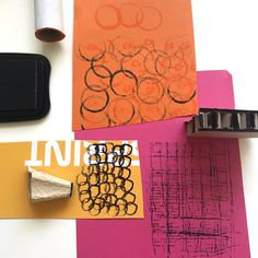 experiment with mark making! Collage Making, Collage Art, Collage Ideas, Collages, Art Ideas, Diy Wrapping Paper, Textiles Sketchbook, School Art Projects, Learn Art