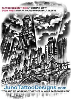 gotham_city_tattoo_design    http://www.tattoodesignslive.com/