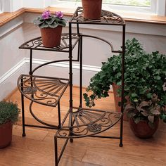 Cool Plant Stand Design Ideas for Indoor Houseplant - Rockindeco Modern Plant Stand, Diy Plant Stand, Plant Stands, Home Design, Design Ideas, Design Design, Modern Design, Iron Furniture, Flower Stands