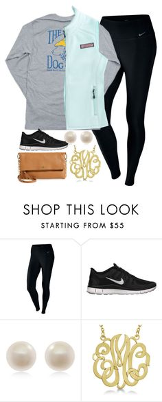 """""""OOTD"""" by carolinaprep137 ❤ liked on Polyvore featuring NIKE, Hanes, Vineyard Vines, Links of London, Allurez and Tory Burch"""