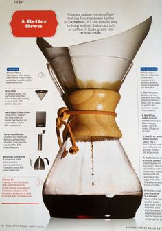 Java Joe's Golden Advice For Coffee Drinkers guide From Bon Appetit Coffee Tasting, Coffee Drinkers, Coffee Cafe, Coffee Shop, Chemex Coffee Maker, Coffee Barista, Coffee Lovers, Kona Coffee, Drip Coffee