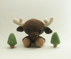 Crochet Amigurumi Moose - $6.00 by LittleBittyKnitter Designs