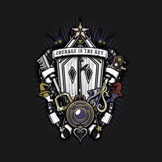 Shop Kingdom Crest kingdom hearts t-shirts designed by Arinesart as well as other kingdom hearts merchandise at TeePublic. Kingdom Hearts Tattoo, Kingdom Hearts Fanart, Final Fantasy Weapons, Kingdom Hearts Merchandise, Kindom Hearts, Gaming Tattoo, Tattoo Designs, Tattoo Ideas, Shirt Designs