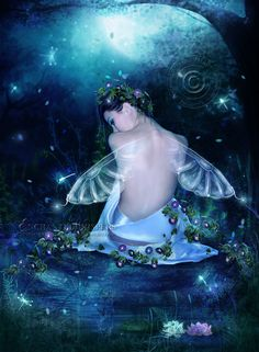 The Rose Enchanted Whispers deviantART | Fairy Moon by EnchantedWhispers on deviantART
