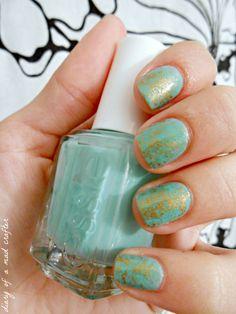 Saran wrap nail art!