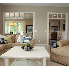 Benjamin Moore Bleeker Beige I like this wall color for living room