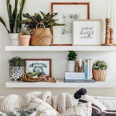 Cheap Home Decor, Diy Home Decor, Decor Crafts, Target Home Decor, Home Decoration, Diy Crafts, White Floating Shelves, Floating Shelf Decor, Floating Shelves Bedroom