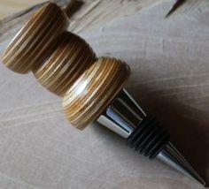 Handturned Plywood Wood Wine Bottle Stopper
