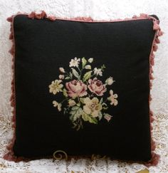 THE VICTORIAN NEEDLEPOINT PILLOW SHOP - VICTORIAN GARDENS ANTIQUES Fine Victorian Antiques and Vintage Treasures