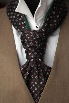 Items similar to Brown Ornament Mens Ascot Mens Cravat Woven Silk Day Cravat Reversible Ascot Tie on Etsy Bow Tie Wedding, Wedding Men, Wedding Suits, Sharp Dressed Man, Well Dressed Men, Mens Cravats, Mens Ascot, Cravat Tie, Ascot Ties