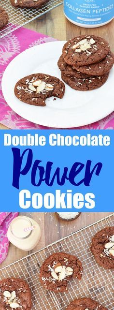 Double Chocolate Power Cookies from Living Loving Paleo! | These are sooo delicious, soft, chewy and loaded with healthy collagen from Vital Proteins! | paleo, gluten-free, dairy-free and grain-free!