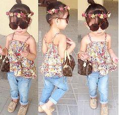 Kids fashion Toddler Outfits, Kids Outfits, Cute Outfits, Coachella Dress, Kool Kids, Little Diva, Kids Wardrobe, Little Fashionista, Baby Kids Clothes