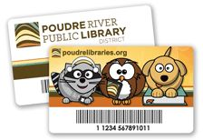 Library cards from the Poudre River Public Library District in Colorado Library Cards, Library Services, Colorado, Public, Branding, How To Apply, River, Learning, Design