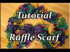 Knit loom ruffle scarf