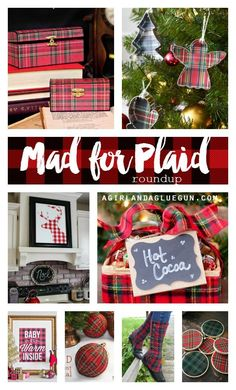 mad for plaid roundup--a girl and a glue gun