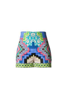 Paradise Passion Geometric Shorts - Blue + Multi | Daily Chic