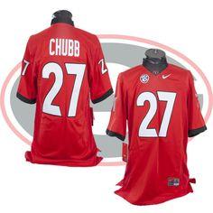 #27 Nick Chubb Georgia Bulldogs Red XL Nike Jersey #Nike #GeorgiaBulldogs