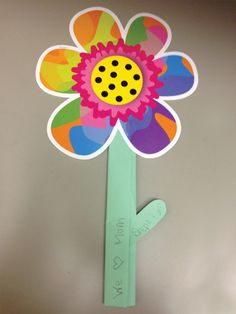 Mother's Day flower with message to mom. Using CTP Poppin' Pattern flower cut-outs. Pattern Flower, Flower Patterns, Mother And Father, Mothers, Flower Cut Out, Creative Teaching Press, Popular Pins, Cut Outs, Fathers Day