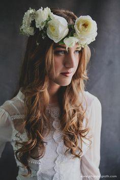 Garden Rose Hair Crown by Sullivan Owen
